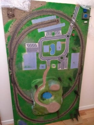 scalextric maqueta trenes