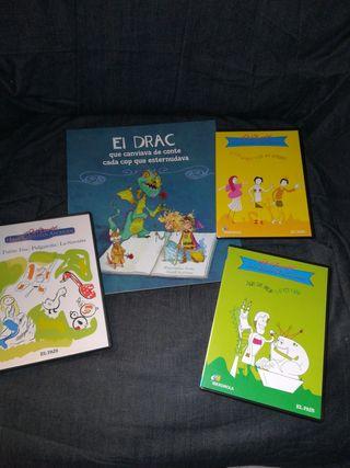lote libro + 3Dvd infantiles + puzle de madera