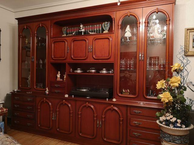 Mueble salón comedor madera color caoba vintage de segunda mano por ...
