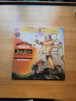 caja con 3 discos de vinilo Heavy Metal