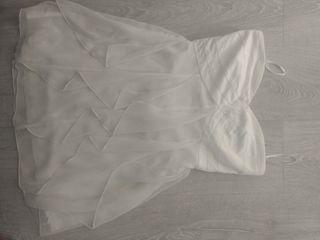 Vestido corto blanco palabra honor