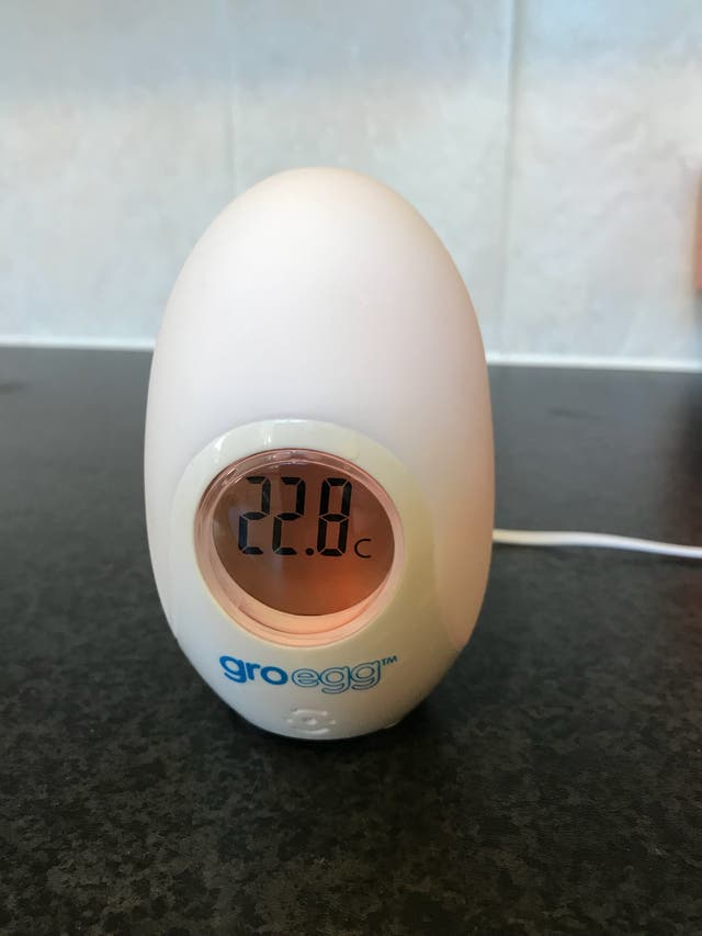 Gro egg digital colour changing room thermometer
