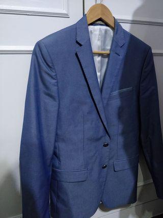 Americana Azul Zara Hombre