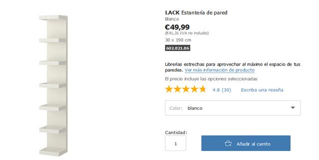 Estanteria Blanca Lack Ikea De Segunda Mano Por 40 En Sant Feliu