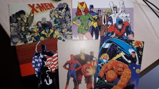 Postales cómic Superhéroes