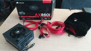Fuente alimentación Corsair AX860i + Cables Sleeve