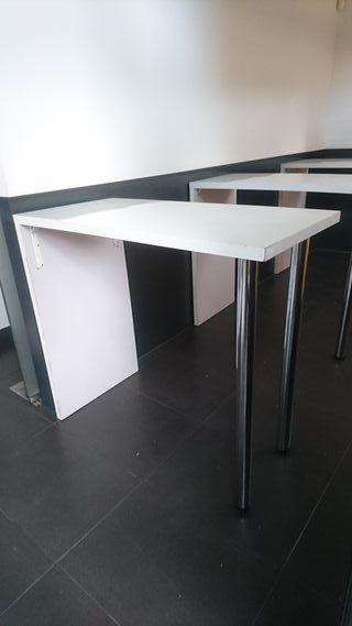 3 mesas altas de restauración