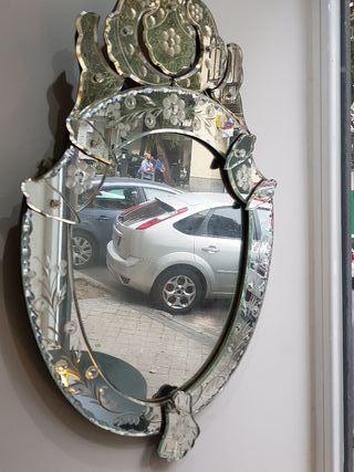 Espejo veneciano de segunda mano en wallapop - Espejo veneciano antiguo ...