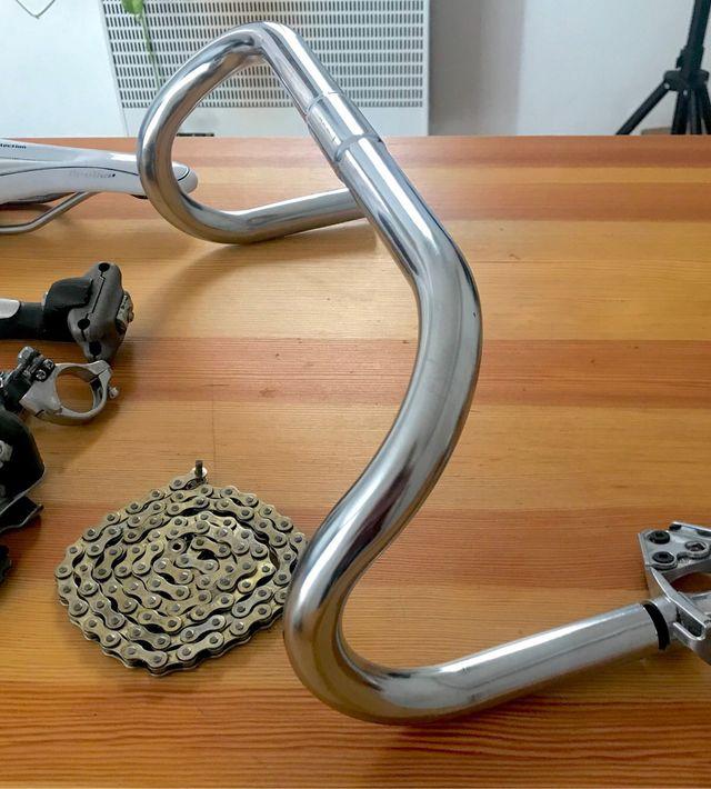 Componentes bicicleta carretera fixie paseo