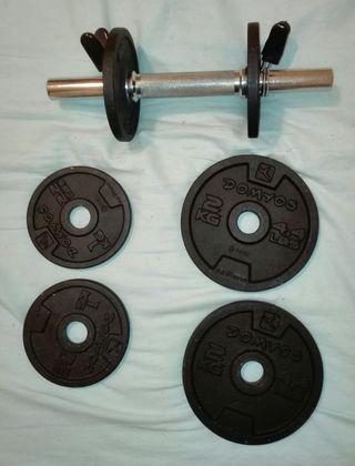 Pack de mancuerna y pesas