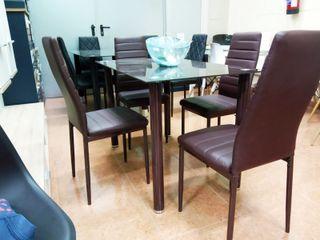 Comedor 4 sillas (marron)