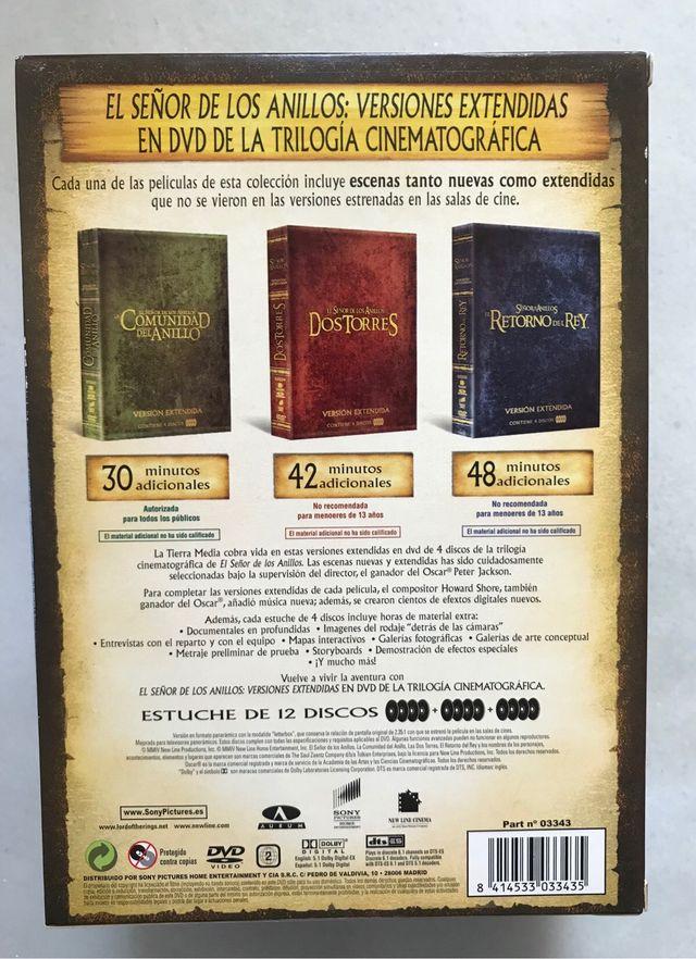 El Señor de los Anillos Trilogía DVD extendida
