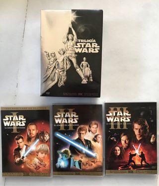 Star Wars Trilogías en DVD ep. 1 al 6