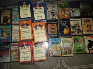 cintas cassettes de cuentos y chistes
