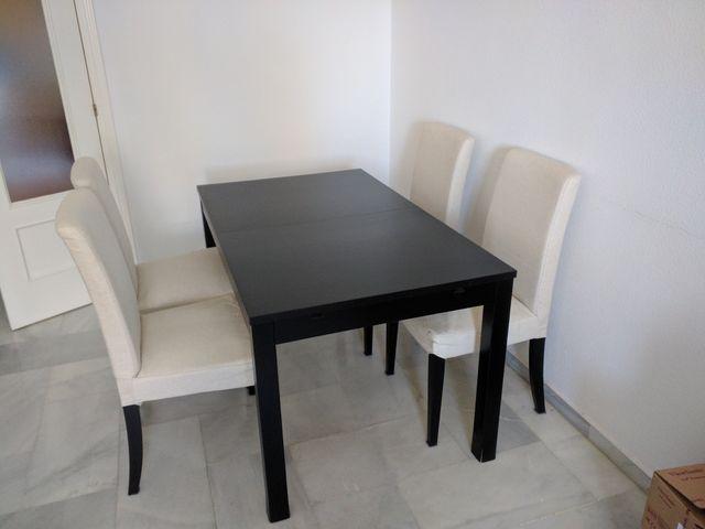 Mesa comedor con cuatro sillas IKEA de segunda mano por 170 € en ...