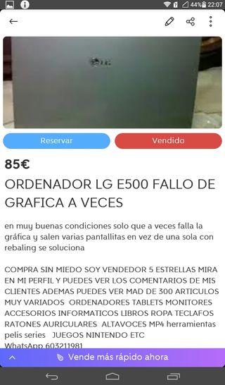 ORDENADOR LG E500