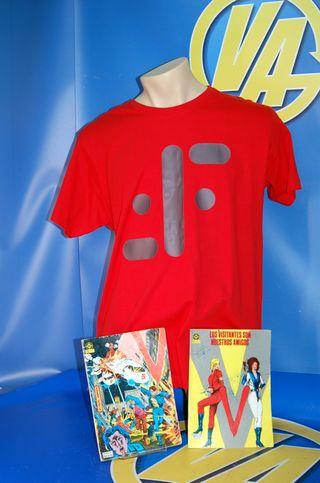 Camiseta y 2 COMICS de V-diseño V -los visitantes