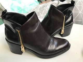 Zara boots - Brown & black - Size 5