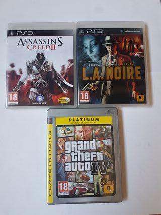 lote de 3 juegos ps3 playstation 3