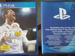 FIFA18 PS4 NUEVO + Pack FIFA Ultimate Team