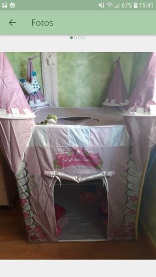 Castillo princesas tienda campaña