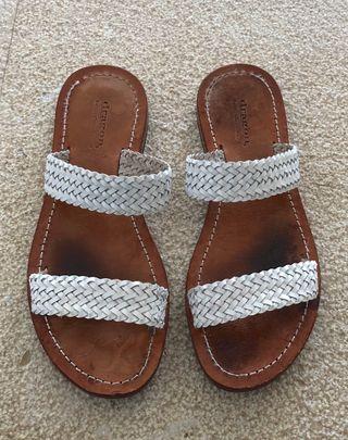 sandales tressées Blanches Dragon Diffusion T. 37