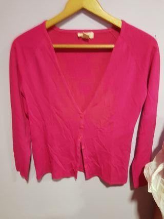 chaqueta rosa entretiempo