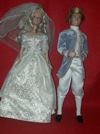 pareja barbie y ken mattel años 90