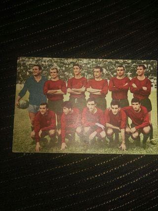 Postal de equipo de futbol Murcia del año 1965