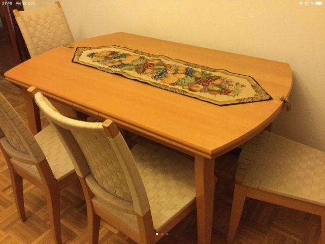 Mesa comedor madera clara. Oferta!!!!! de segunda mano por 125 € en ...