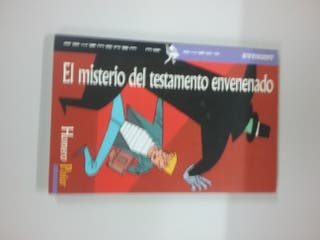 Libro juvenil El misterio de testamento envenenado