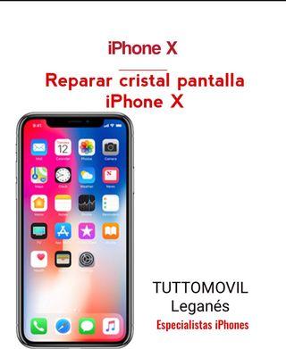 Reparamos Cristal iPhone X