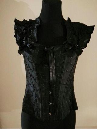 Corset negro talla s-m sin uso