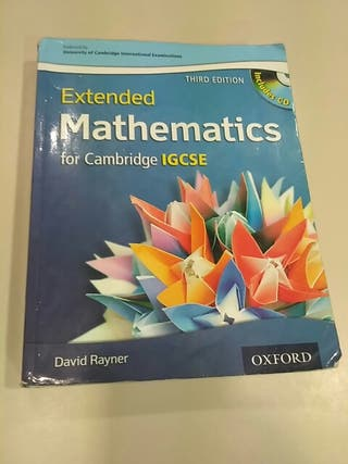 Oxford Extended mathematics for IGCSE