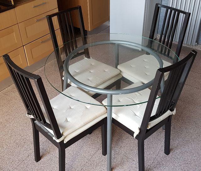 Mesa cocina cristal redonda de segunda mano por 150 € en Zaragoza en ...