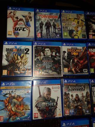 Lot de 22 jeux PS4 + Console PS4 1TO (en option)