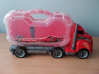 Camión juguete desmontable con caja herramientas