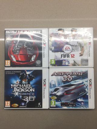 4 juegos Nintendo 3DS