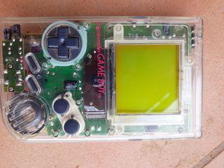 consola GAME BOY transparente