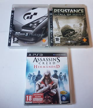lote 3 juegos para playstation 3