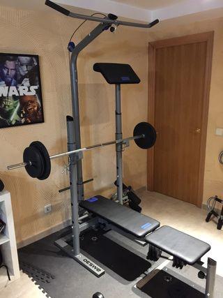 Set de musculación / Banco de pesas / Polea