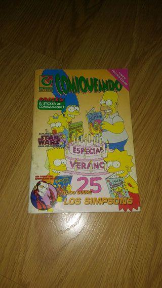 Comic antiguo -Comiqueando Los Simpsons-año 1997