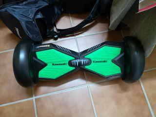 hoverboard kawasaki grande con kart y funda