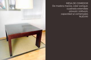 Mesa comedor wengue de segunda mano en Madrid en WALLAPOP