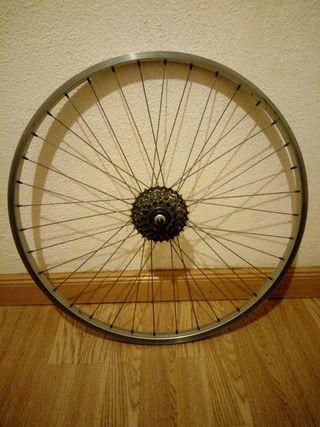 Rueda trasera bicicleta de montaña