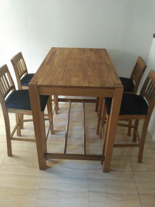 mesa y sillas cocina nueva sin estrenar