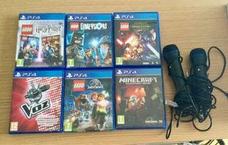 Juegos PS4 + mandos del videojuego la voz