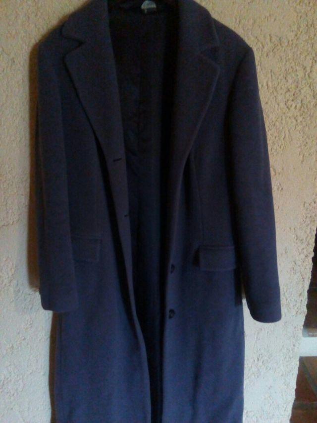 abrigo azul cachemir, gran calidad