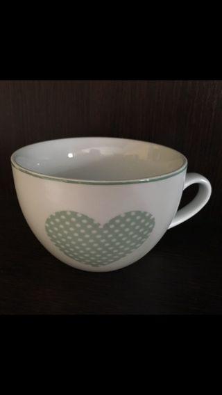 Taza porcelana corazón nueva