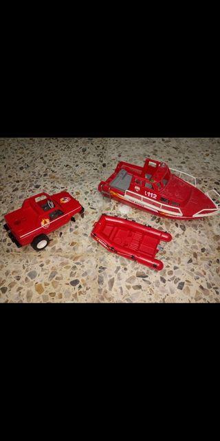 lote vehiculos de rescate de playmobil